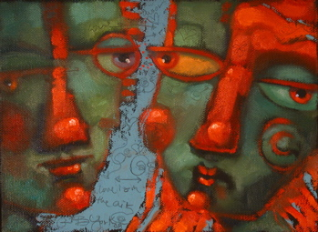 """Love In The Air"" original fine art by Brenda York"