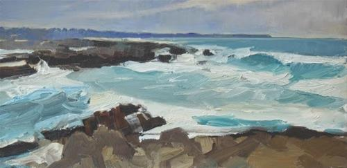 """Asilomar Beach California, coastal plein air painting by Robin Weiss"" original fine art by Robin Weiss"