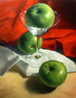 """Apple-Tini"" original fine art by Michael Naples"