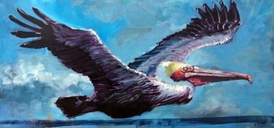 """Pelicanation"" original fine art by Rick Nilson"