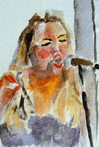 """""""The Tif in Justif"""" original fine art by Donna Crosby"""