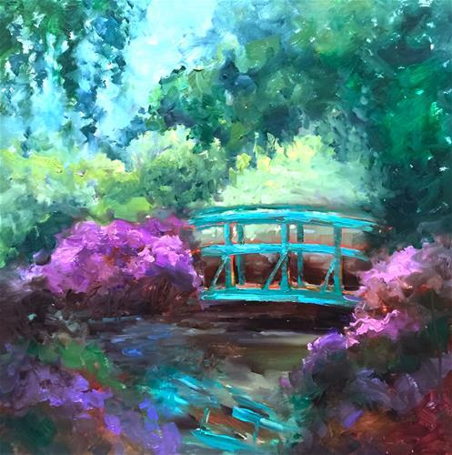 """Monet's Garden and France 2017"" original fine art by Nancy Medina"
