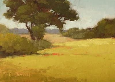 """Hill Country Meadow"" original fine art by Laurel Daniel"