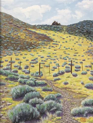 """""""Wild Yellow Desert"""" original fine art by John F McGowan"""