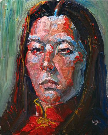 """Dragon Lady"" original fine art by Raymond Logan"