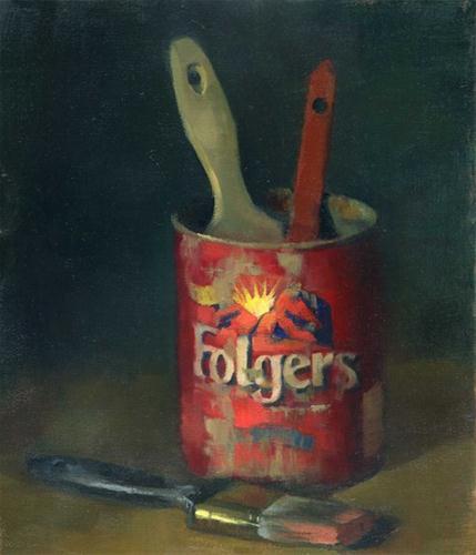 """Folger's"" original fine art by Kathy Weber"
