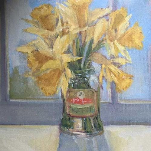"""daffodils"" original fine art by Merle Manwaring"