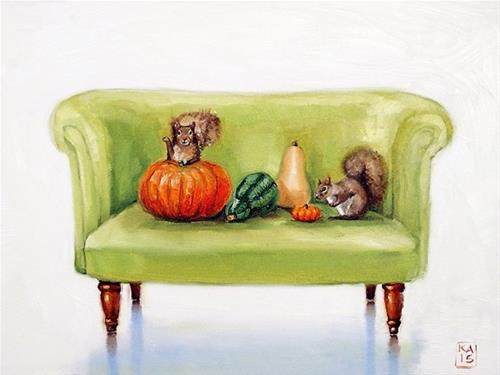 """pumpkin season!"" original fine art by Kimberly Applegate"