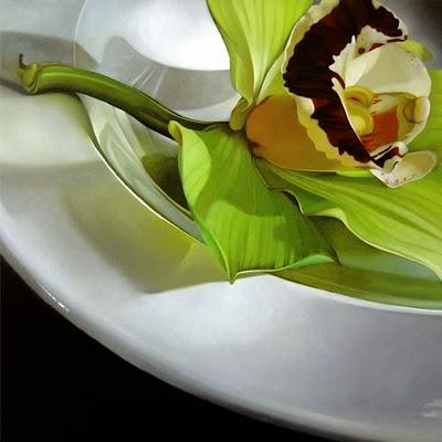 """Cymbidium 24x24"" original fine art by M Collier"
