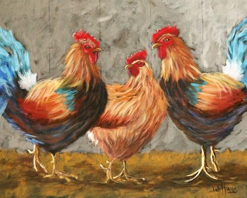 """Cool It, Boys!"" original fine art by Sunny Williams"