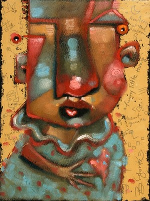 """Love Puppet"" original fine art by Brenda York"