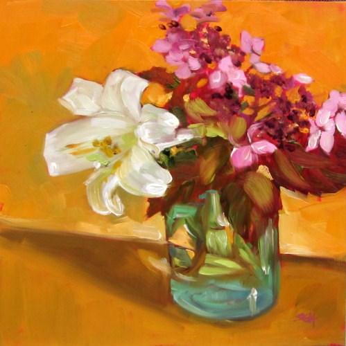 """""""Lacecap hydrangea"""" original fine art by Sandy Haynes"""