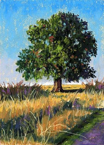 """Tall Grasses pastel landscape painting"" original fine art by Ria Hills"