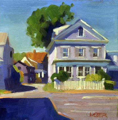 """""""Provincetown street scene"""" original fine art by Kathy Weber"""