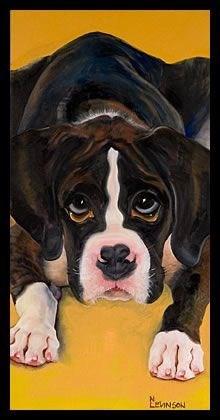 """""""Puppy Love"""" original fine art by Nancy Levinson"""