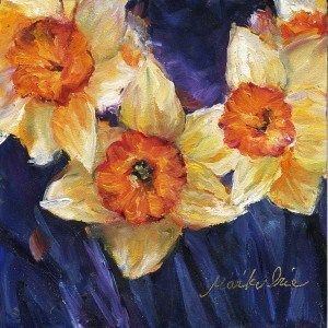 """Daffodils  水仙"" original fine art by Mariko Irie"