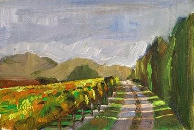 """Another Vineyard's Edge"" original fine art by Raymond Logan"