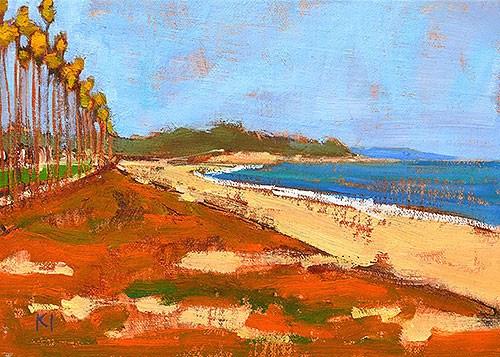 """East Beach Santa Barbara Painting"" original fine art by Kevin Inman"