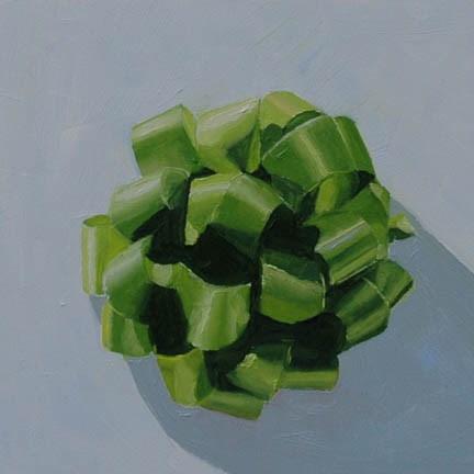 """GREEN BOW"" original fine art by Linda Popple"
