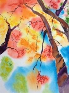 """October 8: Color of Fall"" original fine art by Dana Richards"
