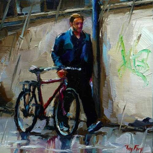 """it rains"" original fine art by Jurij Frey"