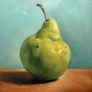 """Pear Portrait"" original fine art by Michael Naples"