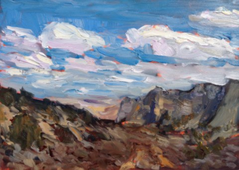 """""""Afternoon Shadows, Black Butte"""" original fine art by Claudia L Brookes"""