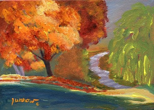 """ORIGINAL LANDSCAPE PAINTING AND HOLIDAY SHOW AT JEFFERSON CENTER"" original fine art by Sue Furrow"