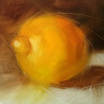 """Lemon Light"" original fine art by Cindy Haase"