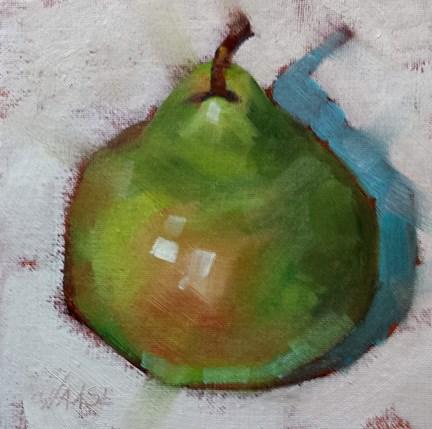 """Earthy Pear"" original fine art by Cindy Haase"