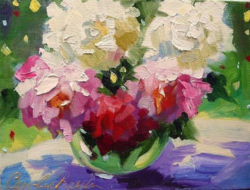 """Flower Study III"" original fine art by Cecilia Rosslee"