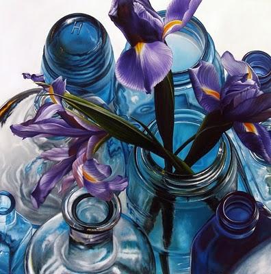 """Color Therapy: Purple & Blue"" original fine art by Jelaine Faunce"
