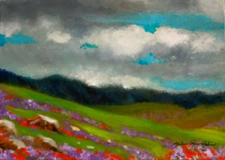 """Green Hills of March"" original fine art by JoAnne Perez Robinson"