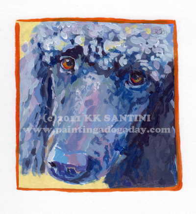 """Annie, A Painted Sketch"" original fine art by Kimberly Santini"