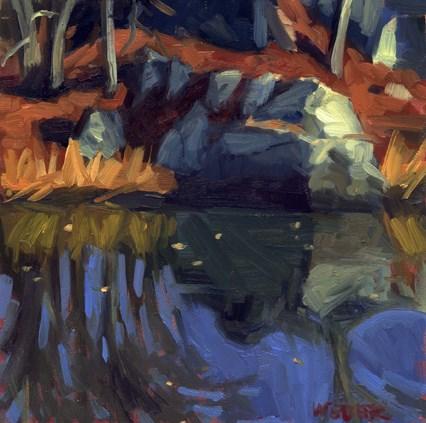 """Bike path reflection"" original fine art by Kathy Weber"