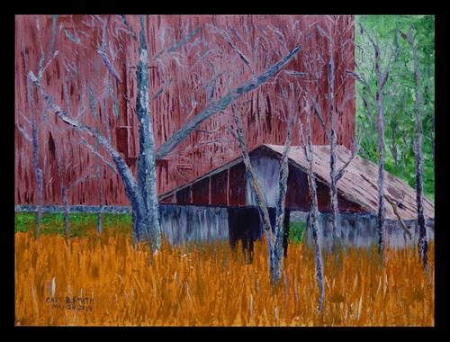 """""""The Old Shed"""" original fine art by Captain B Smith"""