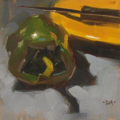 """Foreboding"" original fine art by Carol Marine"