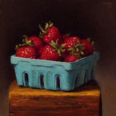 """Strawberries"" original fine art by Abbey Ryan"