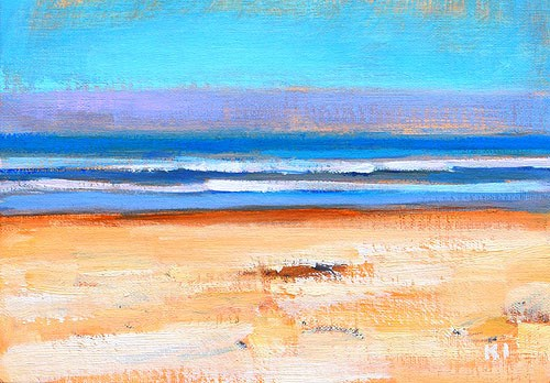 """Coronado Beach Painting"" original fine art by Kevin Inman"