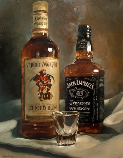 """Holiday Spirits"" original fine art by Michael Naples"