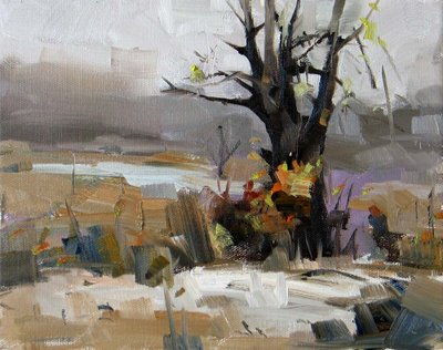 """""""Early Winter --- Sold"""" original fine art by Qiang Huang"""