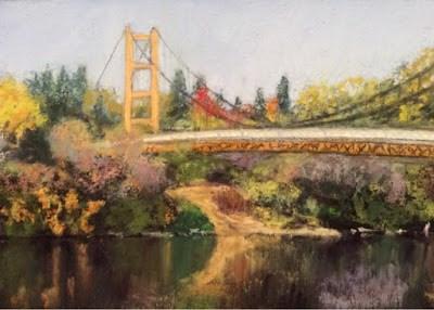 """THE GUY WEST BRIDGE"" original fine art by Marti Walker"