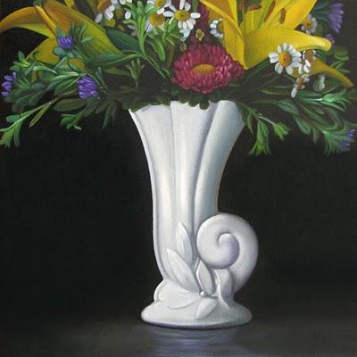 """Spring Bouquet  8x8"" original fine art by M Collier"