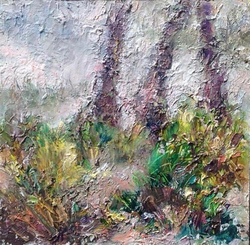 """""""Ground Floor of Floridian Forest"""" original fine art by Judy Usavage"""