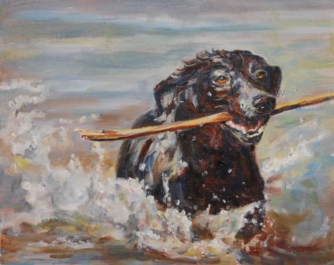 """Splish Splash"" original fine art by Carol DeMumbrum"