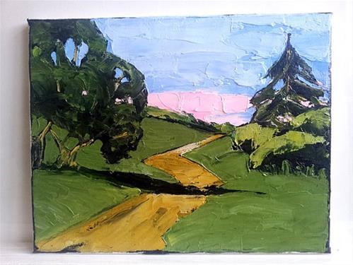 """""""California Hills & Path"""" original fine art by lynne french"""