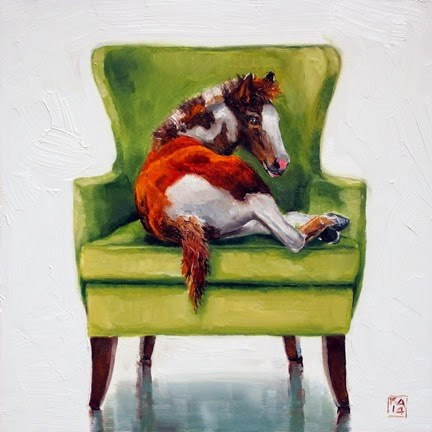 """fresh paint"" original fine art by Kimberly Applegate"