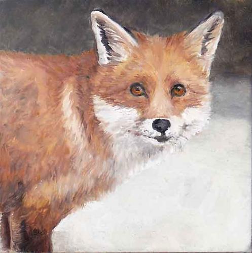 """Shy Red Fox"" original fine art by Charlotte Yealey"