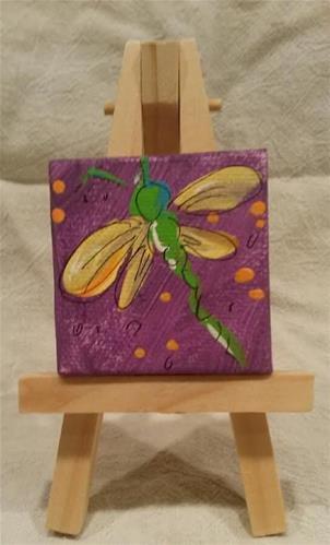"""""""Itty Bitty Dragonfly"""" original fine art by Terri Einer"""