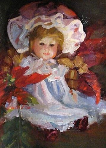 """C13003 Christmas Dolly"" original fine art by Charlotte Cox"